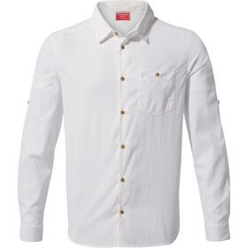 Craghoppers NosiLife Nuoro Camisa Manga Larga Hombre, blanco